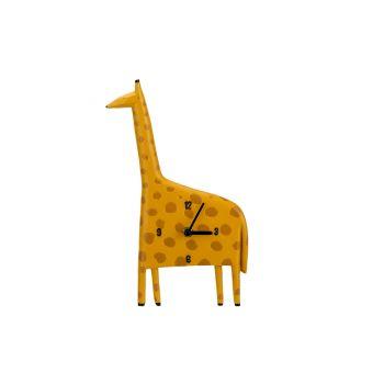 Cosy @ Home Horloge Giraffe Jaune 17,8x4,1xh29,7cm P