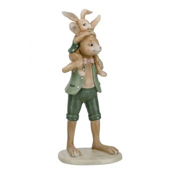 Cosy @ Home Lapin Father And Son Mint 10,1x9,6xh25,2