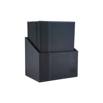 Securit Trendy Support Menu Bleu 25.3x17.7x0.8cm