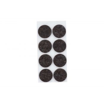 Cosy & Trendy Anti-glissant Set8 Noir D2,6cm Rond Feut