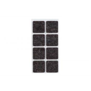 Cosy & Trendy Anti-glissant Set8 Noir ,25x,25cm Carre