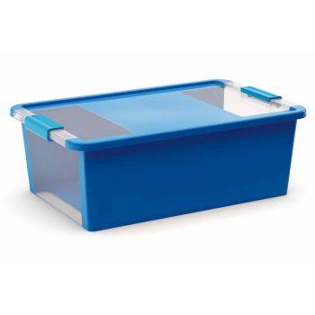 Kis Bi-box Box De Rangement M Bleu 26l 55x35