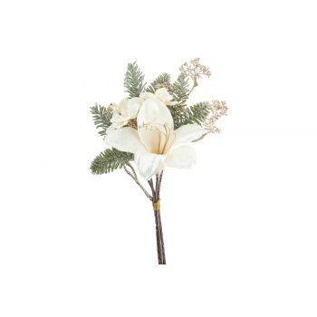 Cosy @ Home Bouquet Lily Hydrangea Creme 19x11xh35cm