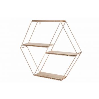 Cosy @ Home Copper Rack Deco Cuivre 49,5x8,5xh44cm M