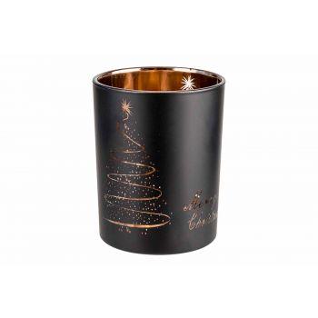 Cosy @ Home Copper Bougeoir Merry Christmas Noir D10