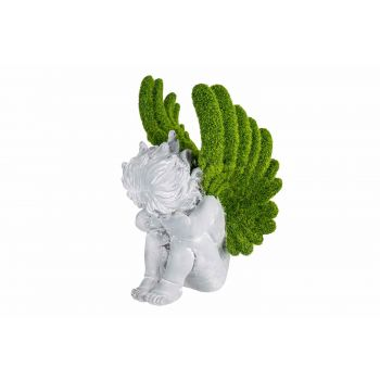 Cosy @ Home Ange Assis Flocked Green Gris 19x18xh29,