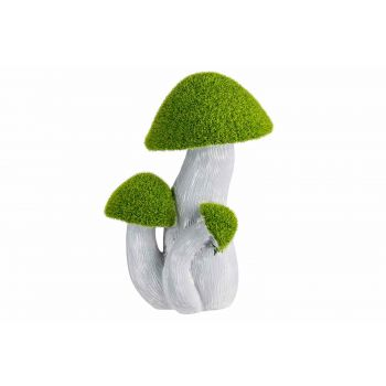 Cosy @ Home Champignons Flocked Green Gris 17,5x12,5