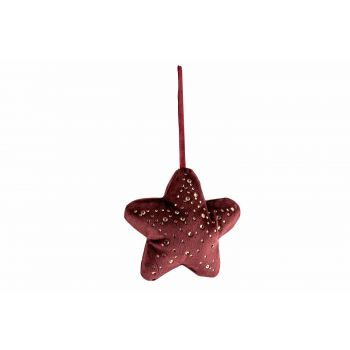 Cosy @ Home Suspension Star Strass Bordeaux 13x3xh13