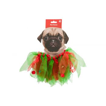 Cosy @ Home Collar Bells Dog Rouge Vert 40x3xh16cm T