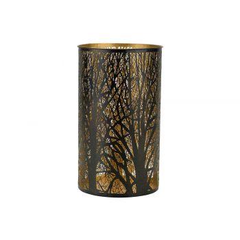 Cosy @ Home Lanterne Trees Gold Noir 14x14xh26cm Met