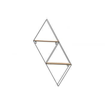 Cosy @ Home Rack Trapezium Noir 29x10xh75cm Metal