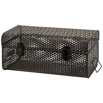 Cosy @ Home Valise Perforated Noir 40x23,5xh17cm Met