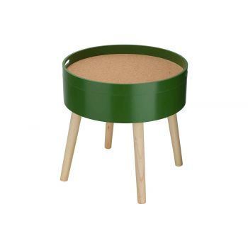 Cosy @ Home Table D'appoint Cork Vert 45x45xh45cm Ro