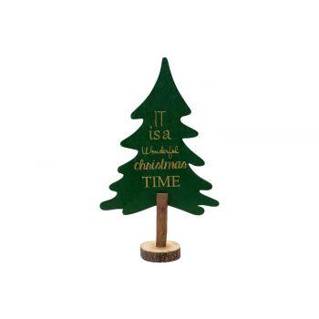 Cosy @ Home Arbre De NoËl Vert 29,7x17,8xh6,3cm Bois