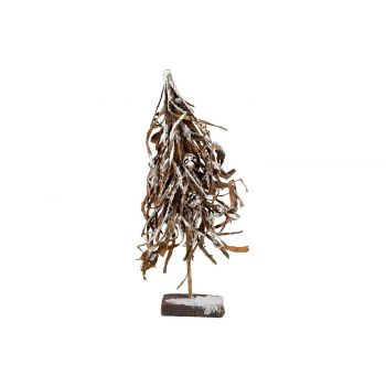 Cosy @ Home Sapin Branches Bark Snowy Brun 30x12xh65