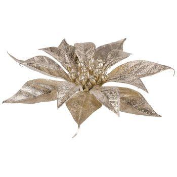 Cosy @ Home Poinsettia Clip Metallic Glitter Champag