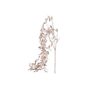 Cosy @ Home Branche Deco Metallic Leaves Rose 5x5xh8