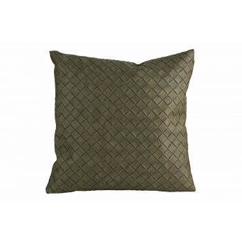 Cosy @ Home Coussin Leatherlook Vert 40x10xh40cm Pol