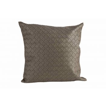 Cosy @ Home Coussin Leatherlook Taupe 40x10xh40cm Po