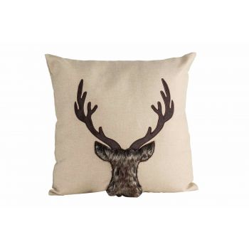Cosy @ Home Coussin Deer Naturel 45x10xh45cm Polyest