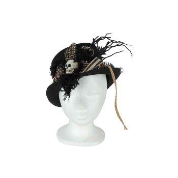 Cosy @ Home Chapeau Skull Noir 29x24xh12cm Textile