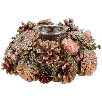 Cosy @ Home Copper Bougeoir Glitter Cones Cuivre D18