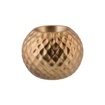 Cosy @ Home Bougeoir Diamond Pattern Laiton 8,6x8,6x