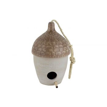 Cosy @ Home Gland A Suspendre Bird House Beige 17x17