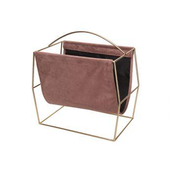 Cosy @ Home Porte-revues Champaign Rose 37x20xh37cm