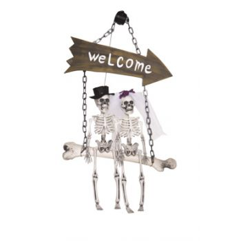 Cosy @ Home Squelette Welcome Naturel 40x20xh64cm Pl