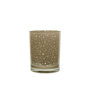 Cosy @ Home Bougeoir Star Beige 10x10xh12,5cm Rond V