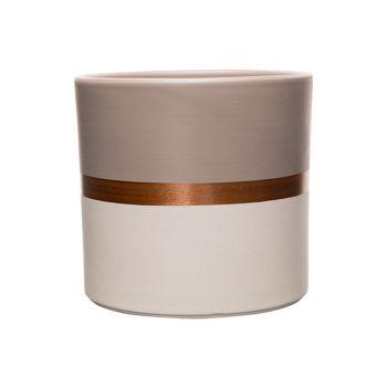 Cosy @ Home Cachepot Duo Color Taupe-white Copper Li