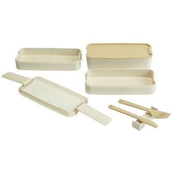 Cosy & Trendy Eco-fibre 3-niveaus Lunchbox Blanc Cout.