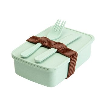 Cosy & Trendy Eco-fibre Lunchbox Cout. Fourch. Vert