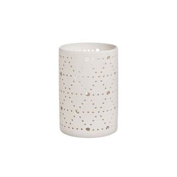 Cosy @ Home Bougeoir Hollow Blanc D9xh13,5cm