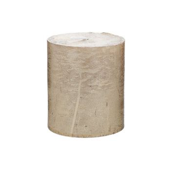 Cosy & Trendy Rustic Bougie Cylindre Metallic Or 8cm