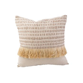 Cosy @ Home Coussin Straw Naturel 45x45xh10cm Textil