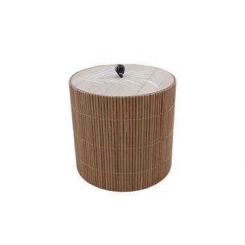 Cosy @ Home Boite Brun 11,8x11,8xh12cm Rond Bois