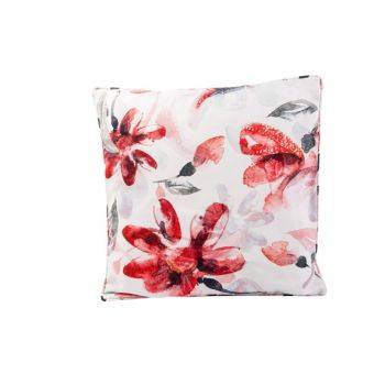Cosy @ Home Coussin Pink Flowers Blanc 45x45xh10cm P