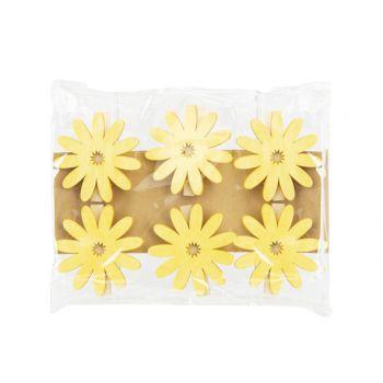 Cosy @ Home Pince Set6 Sunflower Jaune 6x,5xh6cm Boi