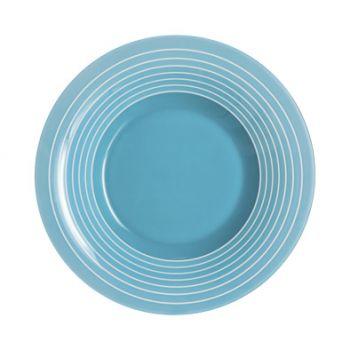 Luminarc Factory Assiette Creuse  Bleu D21,5cm