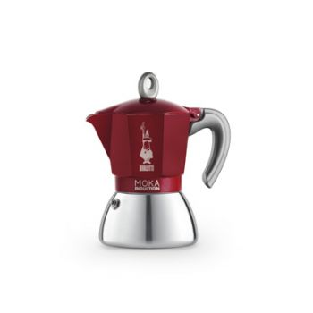 Bialetti New Moka Induction Cafetiere Rouge 6t