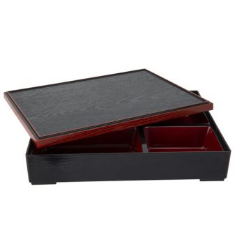 Cosy & Trendy Asian Bento Box Noir-rouge 30x24.5x6cm