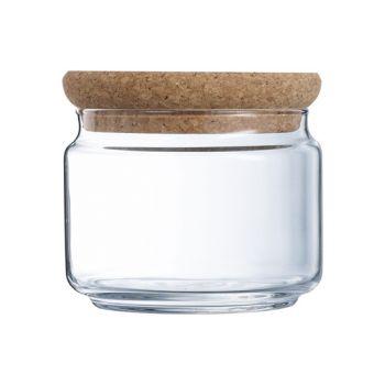 Luminarc Pure Jar Pot Couvercle Liege  O,50l