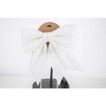 Cosy @ Home Noeud Glitter Blanc 30x35cm Plastic