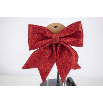 Cosy @ Home Noeud Glitter Rouge 30x35cm Plastic