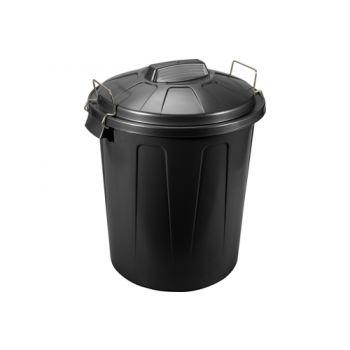 Hega Hogar Poubelle Noir 100l D50xh76cm Poly Propyl