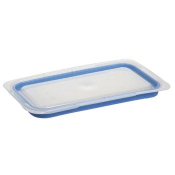 Couvercle bleu en ABS sans BPA Araven GN 1/3 lot de 6