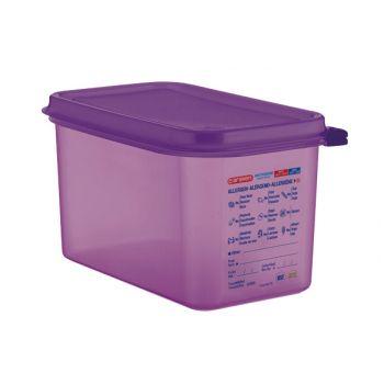 Bac hermétique violet antiallergénique GN1/4 Araven 4;3L