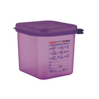 Bac hermétique violet antiallergénique GN1/6 Araven 2;6L